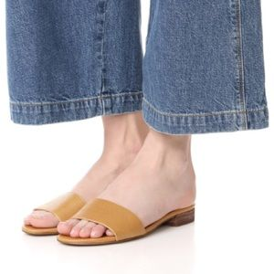 Madewell the Caren Slide in Embossed Leather